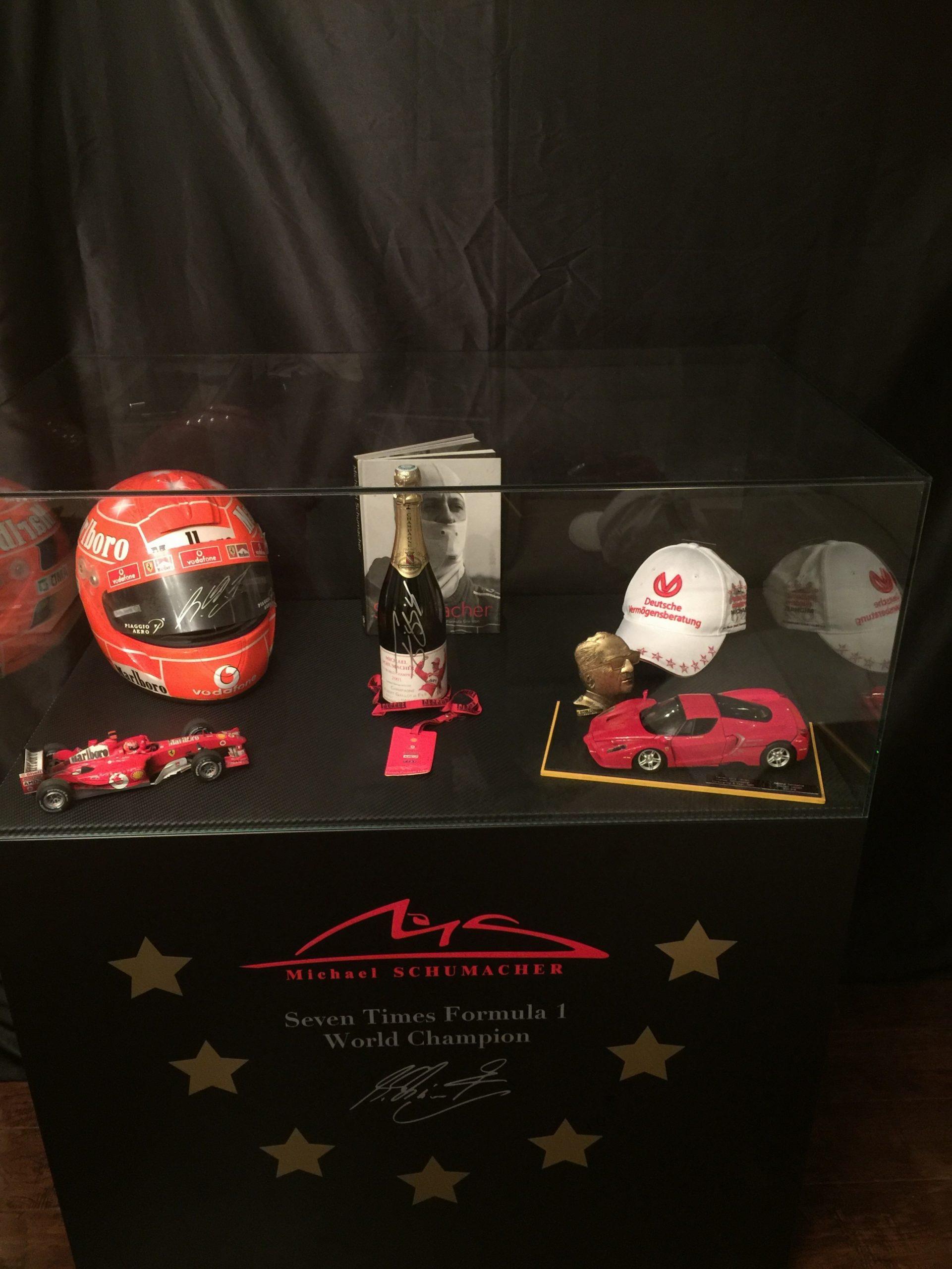 Michael Schumacher Glass Cabinet